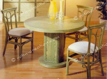 Table LANOUX ronde fixe